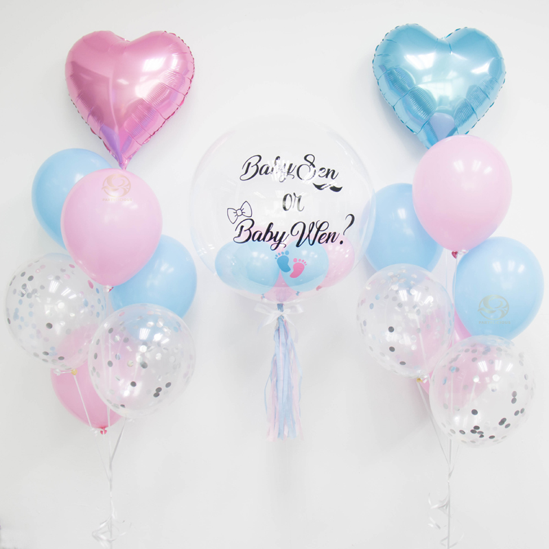 Deluxe Jumbo Bubble Balloon Bunch