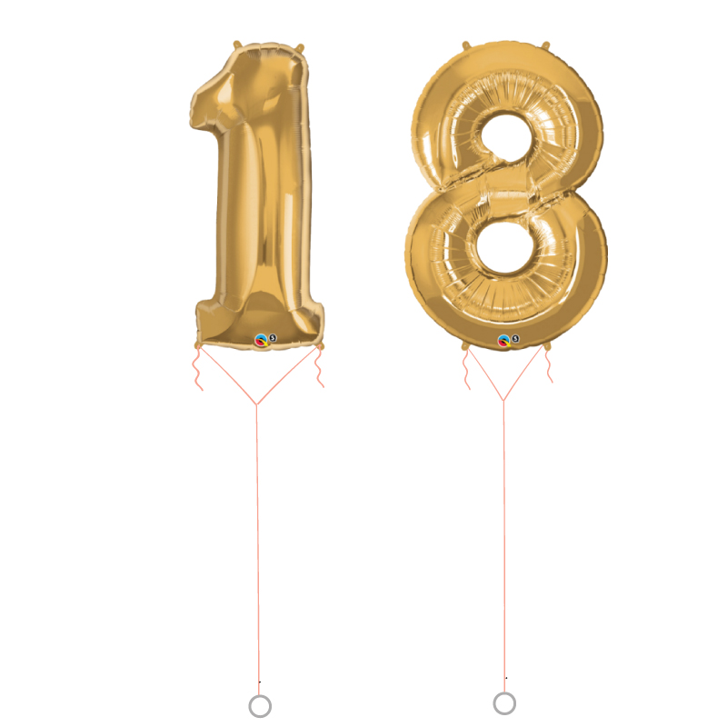 Dual Large Number Foil Balloon