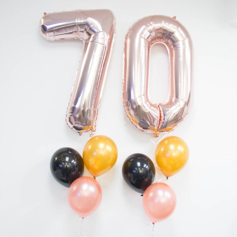 Elena Number Balloon Bunch