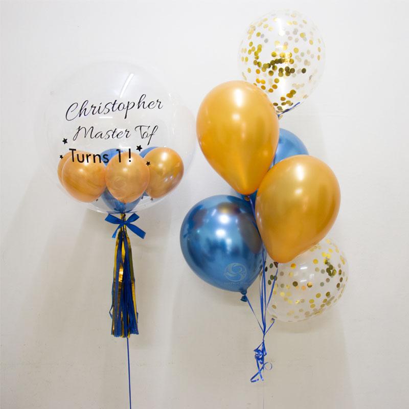 Journee Bubble Balloon Bunch