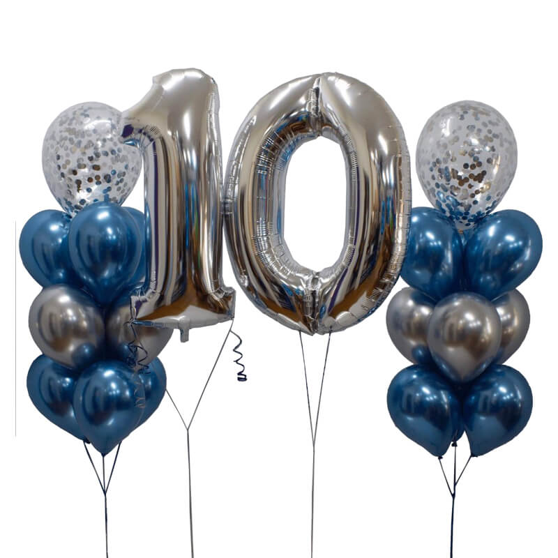 Stephy Number Foil Balloon Bunch