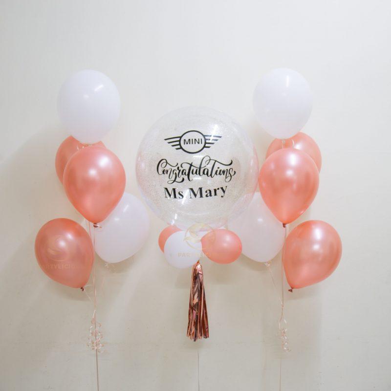 Diana Bubble Balloon Bunch