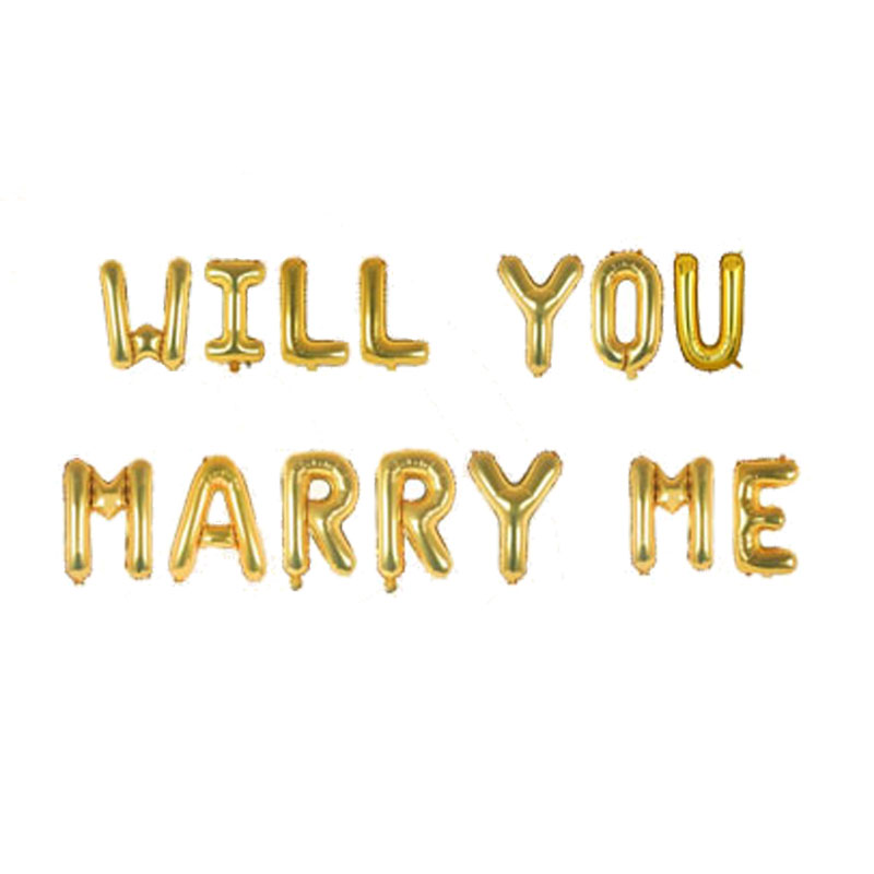Will You Marry Me Foil Balloon