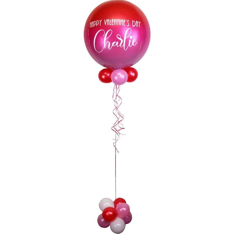 Hazel Red Pink Orbz Foil Balloon