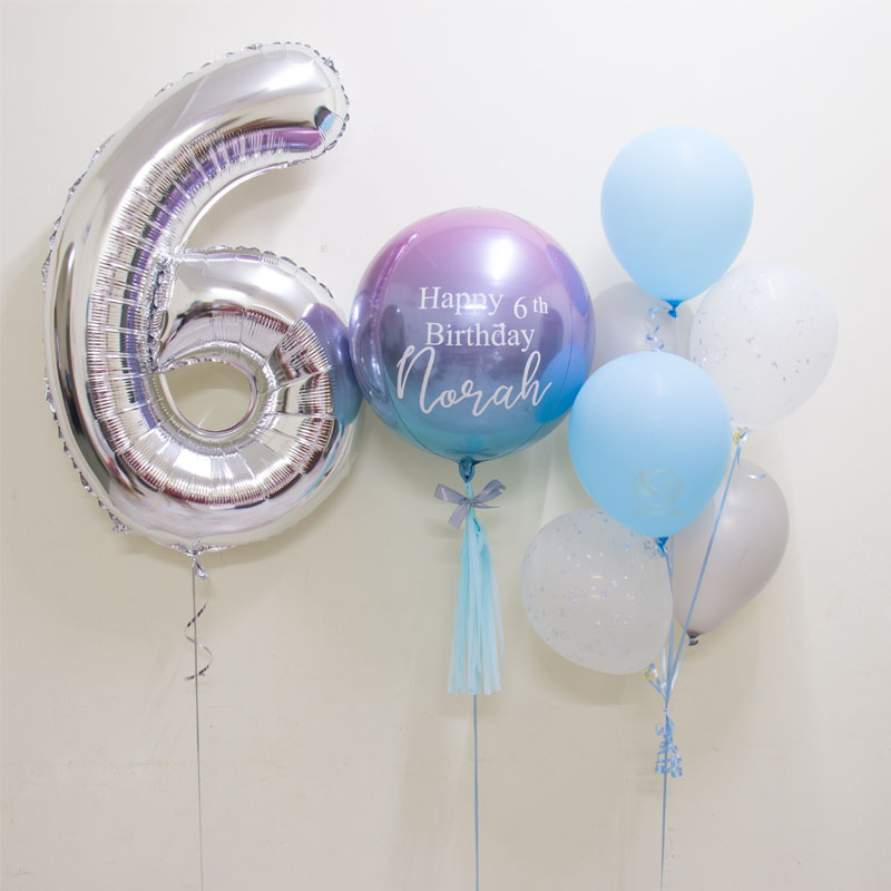 Lydia Number Foil Balloon Bunch