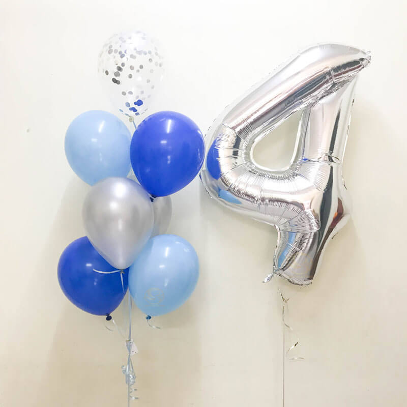 Christopher Number Foil Balloon Bunch