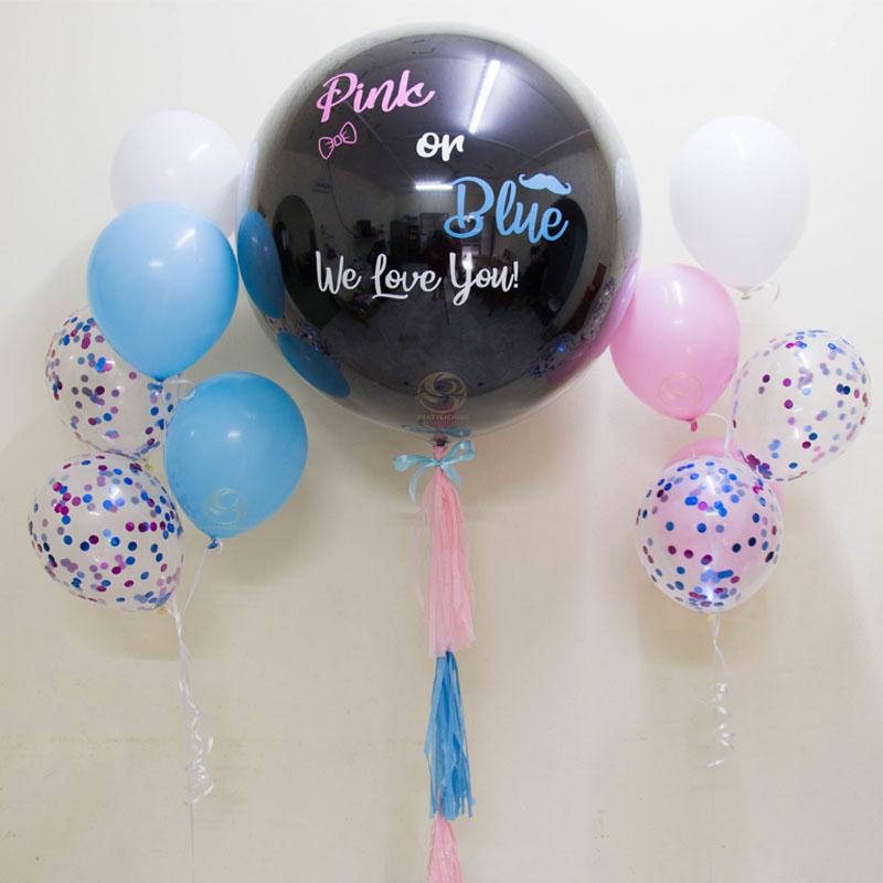 Gender Reveal Balloon Bunch Set B