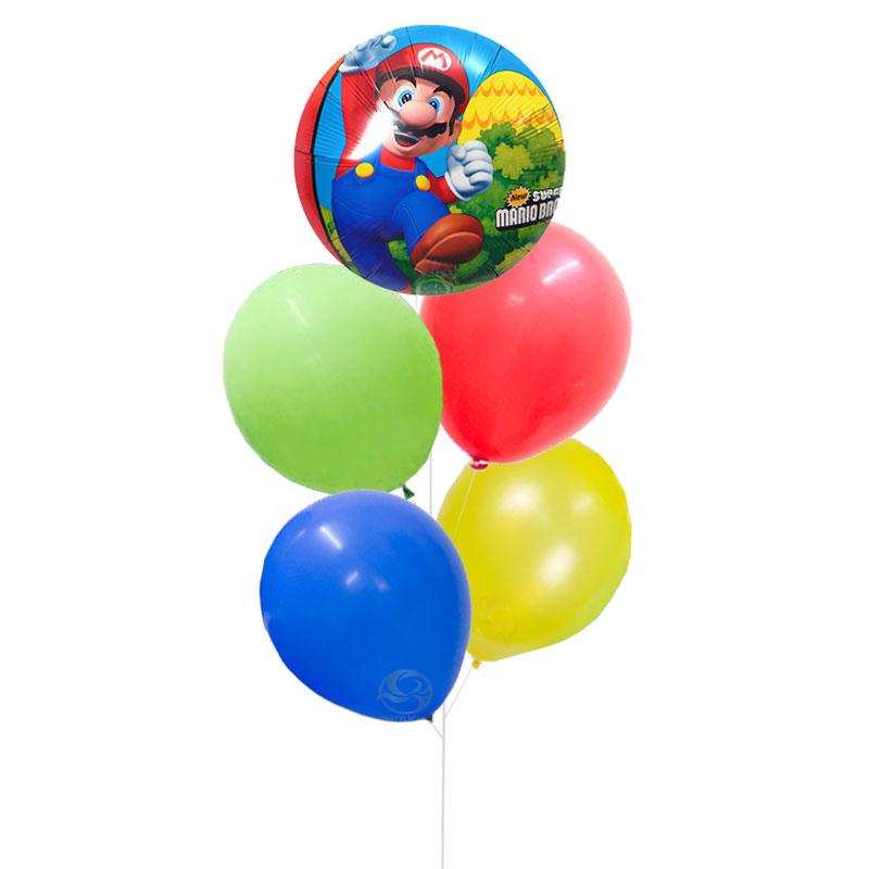 Mario Latex Balloon Bunch