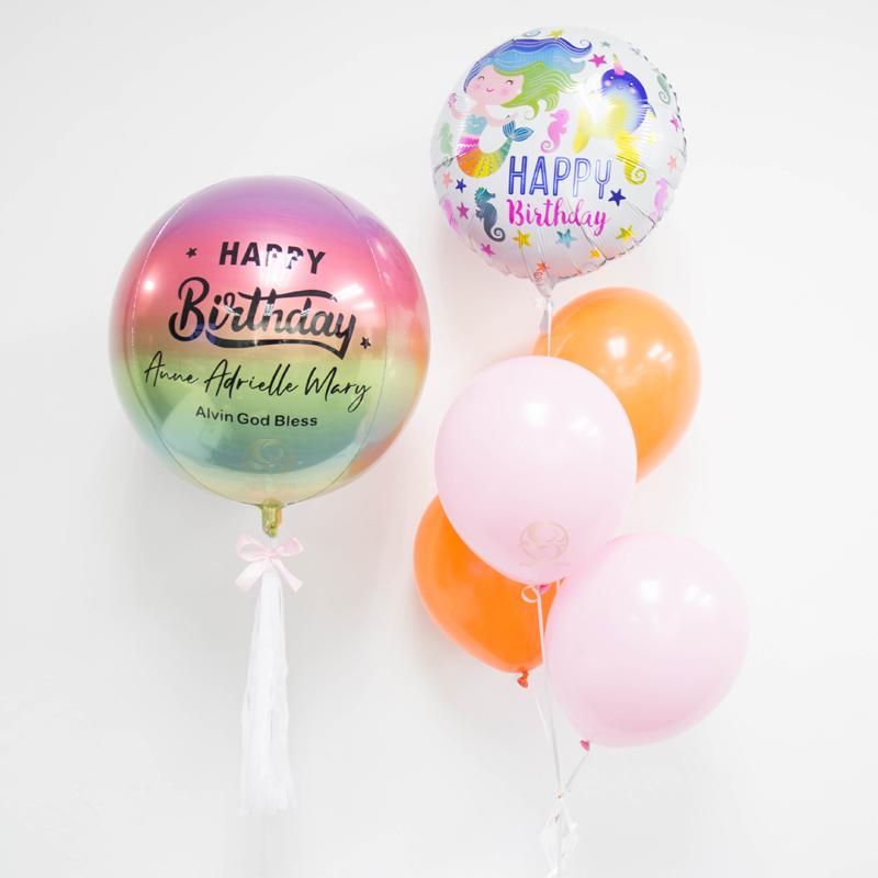 Mermaid Orbz Balloon Bunch