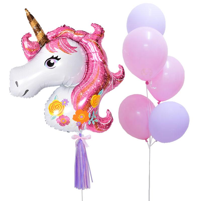 Unicorn Latex Balloon Bunch