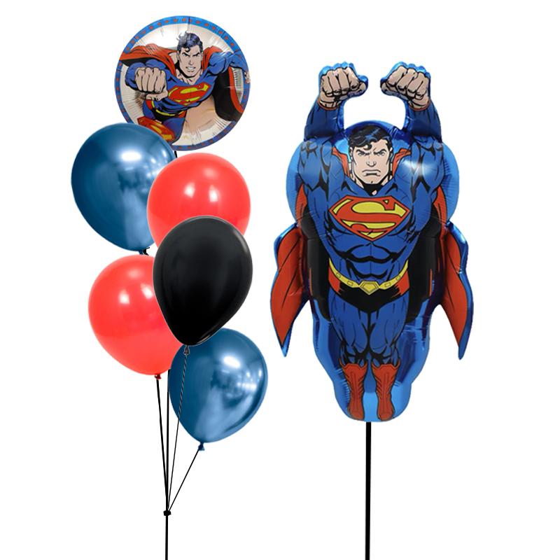 Superman Latex Balloon Bunch