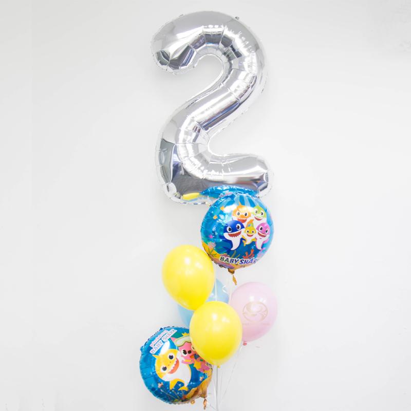 Baby Shark Number Balloon Bunch